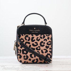NWT Kate Spade Daisy Graphic Leopard Vanity Crossbody